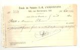 Reçu  SAINT - GILLES - BRUXELLES - Etude Du Notaire E. - H. T'Serstevens - Factures & Documents Commerciaux