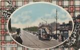 Royaume-Uni - Ecosse - Ayr - Prestwick Road - Tramway - Tartan Clan Stewart - Ayrshire