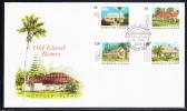 Norfolk Island Scott #849-852 FDC Set Of 4 Old Island Homes - Ile Norfolk