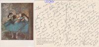 CPM D' EDGAR DEGAS (1834-1917) - DANCERS In BLUE - Peintures & Tableaux