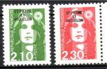 YT 517 518 Mariannes De Briat 1990 2.10 Et 2.30