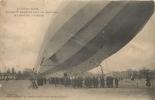 LUNEVILLE LE CROISEUR AERIEN ZEPPELIN PIQUANT DU NEZ A SON ATTERRISSAGE EN AVRIL 1913 - Dirigeables