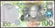LESOTHO  : 100 Maloti - 2010 - UNC - Lesoto