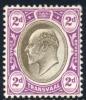 Transvaal 1904-1909. 2d Black And Purple (wmk.MCA). SACC 268*. - Südafrika (...-1961)