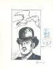BELGIË/BELGIQUE :1980: Y.1993 On Souvenir Sheet : Albrecht RODENBACH,ROESELARE,BLAUWVOET, - Cartes Souvenir