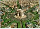 Paris  - En Avion Sur Paris...L´Arc De Triomphe De L´Etoile. A Droite, L´avenue Des Champ - Unclassified