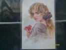 T.CORBELLA Illustratore Donnina Non Viaggiata Piccolo Formato Colori Woman - Corbella, T.