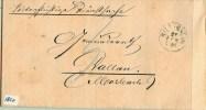 BRIEFOMSLAG Uit 1873 Van DALLAU Naar BILLIGHEIM DUITSLAND (1820) - Wurttemberg