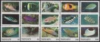 VANUATU // 1987 Faune Marine, Poissons // 15 V NEUFS *** (MNH SET) Magnifique Série - Vanuatu (1980-...)