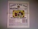 Publicité Ancienne Parfumerie Du Monde élégant DELETTREZ, Héliophar D'Arabie Nouveau Parfum - Cartes Parfumées