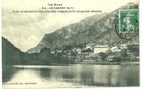 Le Lauzet Sur Ubaye. Le Village Et Le Lac. - France