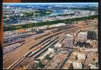 CPM  Neuve  CAEN Vue Aérienne Place De La Gare SNCF Le Port De Commerce Le Viaduc De Calix - Caen
