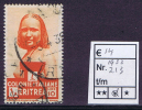 Eritrea 1933 Serie Pittorica Lire 10 Usato, Michel 213 - Eritrea