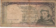 BILLET BANCO DE PORTUGAL VINTE ESCUDOS - Portugal