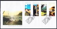 Norfolk Island Scott #805-808 FDC Set Of 4 Island Scenes - Ile Norfolk