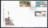 Norfolk Island Scott #818-820 FDC Set Of 3 Unloading Ship Cargo - Ile Norfolk
