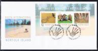 Norfolk Island Scott #822 FDC Souvenir Sheet Of 3 Quota International 25th Anniversary On Norfolk - Ile Norfolk