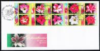 Norfolk Island Scott #823 FDC Block Of 10 Day Lilies - Ile Norfolk