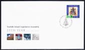 Norfolk Island Scott #831 FDC $5 Norfolk Island Legislative Assembly 25th Anniversary - Ile Norfolk
