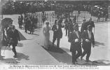 Le Président FALLIERES Au Bras De Sa Fille. Mariage, Août 1908. 2 Scans. - Personajes
