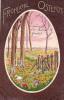 AK OSTERN  GROSSE EI Gemalte Blume Felder Und Bäume D.T.C.L. SER.130 2.OLD POSTCARD 1903 - Ostern