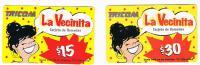 REPUBBLICA DOMINICANA - TRICOM (GSM RECHARGE)   - LA VECINITA: LOT OF 2 DIFFERENT   - USED  -  RIF. 1049 - Dominicaine
