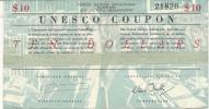 BON DE L'UNESCO . 10 DOLLARDS - France