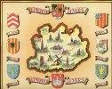 Ancienne Carte Géographique Touristique Des Villes - Province D' ANVERS - ANTWERPEN  (1432) - Geographische Kaarten
