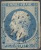 # France   17, Used,   Sound, 4 Margins    (fr017-10, Michel 14   [16-BET - 1853-1860 Napoleon III