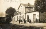 GIROMAGNY (90) Carte Photo Train En Gare Gros Plan Animation - Giromagny