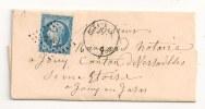Lettre - SEINE - SCEAUX PC 2849/N°14 + Càd T.15 - 1861 - 1853-1860 Napoleone III