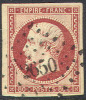 # France 19, Used, VF+, Sound,  (fr019-11,  Michel 16 [16-HB - 1853-1860 Napoleon III