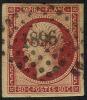 # France 19, Used, VF, Sound, Dark Carmine  (fr019-30,  Michel 16b Dunkel Carmine    [16-HB - 1853-1860 Napoleon III