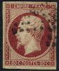 # France 19, Used, 4 Mgns, VF, Sound, Dark Carmine (fr019-31,  Michel 16b Dunkel Carmine [16-HB - 1853-1860 Napoleon III