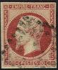 # France   19, Used,   SCV$ 82.50, Lake, (fr019-37, Michel 16 - 1853-1860 Napoleon III