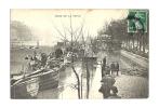 Cp, 75, Paris, Crue De La Seine, Voyagée 1910 - Paris Flood, 1910