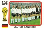 "FIGURINE PANINI STICKERS - SERIE ""WORLD CUP STORY"" : SQUADRA GERMANIA ´74 (W.C. GERMANY ´74 - THE TEAM) - NUOVA / NEW - Panini"