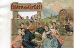 Chromo Publicitaire Pour Bière Du GRÜTLI, Brasserie Des Moulineaux à ISSY-LES-MOULINEAUX - Old Paper