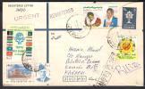PAKISTAN Postal Stationery Rs.6 Registered Letter Cover From CAMP P.O. KP-2157 Polio SAARC ECO Guru Arjun 11-11-2011 - Pakistán
