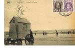 OSTENDE - SCÈNES DE BAINS - Cabine Roulante  N° 31 - Cpa  Voyagée 1924- PAYPAL SANS FRAIS - Oostende