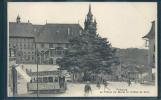 Fribourg, Le Tilleul Et L' Hôtel De Ville, Tram, Tramway, Animée, Publicité Chocolat Léman Genève, - FR Fribourg