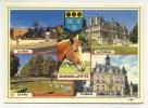 CPM - MAISONS-LAFFITTE (78) Gare - Château - Parc - Mairie  (tête De Cheval - Blason) - Maisons-Laffitte