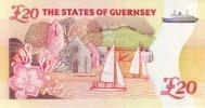 GUERNSEY P. 58a 20 P 1996 UNC - Guernsey