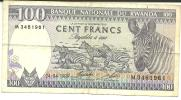 100 BANKI NASIYONALI YU RWANDA  Du 24.04.1989 - Ruanda-Urundi