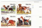 #2098-2101 Plate Number Block Of 4 Mint 20-cent Stamps, American Dog Breed Stamps - Ongebruikt