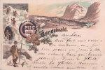 Gruss Aus Grindelwald 1899, Alpinistes Litho (151099) - BE Berne