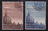 1953  Cupola Della Basilica Di S. Pietro  Sass PA 22-23 - Poste Aérienne