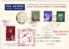 1948  Lettre Du Vatican Pour IMABA Par Le Vol Spécial Interrompu à Locarno  Etiquette Du Vol Milan-Bäle - Vatican
