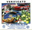 Adesivo Stiker Etiqueta VERIFICATO 12 AUTOSLALOM MADONIE - Targhe Rallye