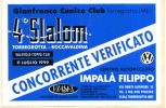 Adesivo Stiker Etiqueta VERIFICATO SLALOM TORREGROTTA - Targhe Rallye